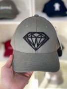Boné Aba Curva Diamond Supply Diamante Cinza