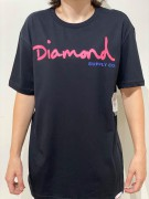 Camiseta Diamond Supply Clássica Preta/Pink