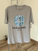 Camiseta Diamond Supply Quadrado Cinza