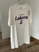 Camiseta New Era Lakers Branca