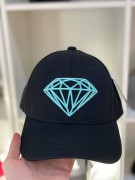 Boné Aba Curva Diamond Supply Diamante Preto