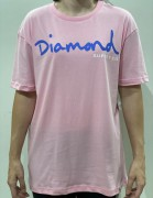 Camiseta Diamond Supply Clássica rosa