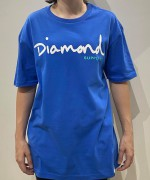 Camiseta Diamond Supply Clássica Azul