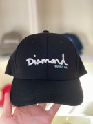 Boné Aba Curva Diamond Supply Preto