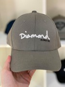 Boné Aba Curva Diamond Supply  Cinza